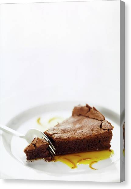 A Slice Of Chocolate Cake Canvas Print