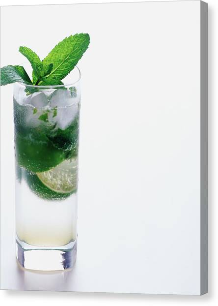 Rum Canvas Print - A Sloppy Joe's Mojito by Romulo Yanes