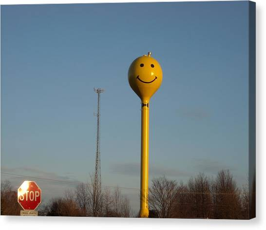 A Smile At The Crossroads. Canvas Print