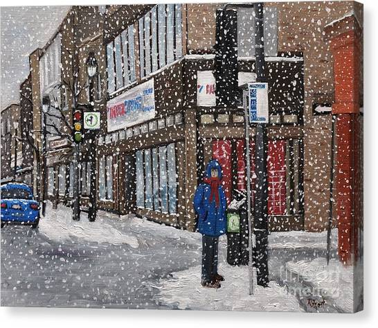 A Snowy Day On Wellington Canvas Print