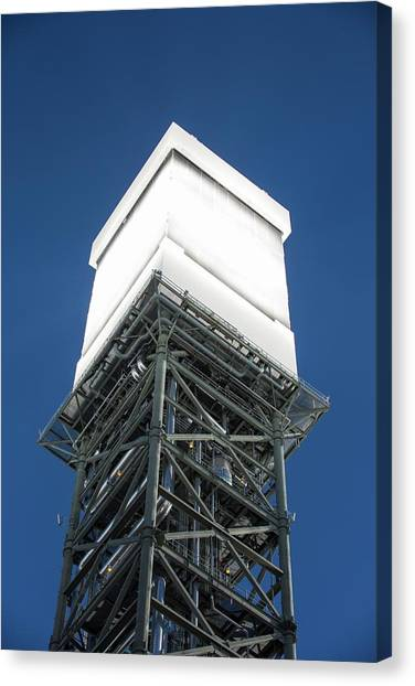 Clean Energy Canvas Print - A Solar Tower At Ivanpah Solar by Ashley Cooper