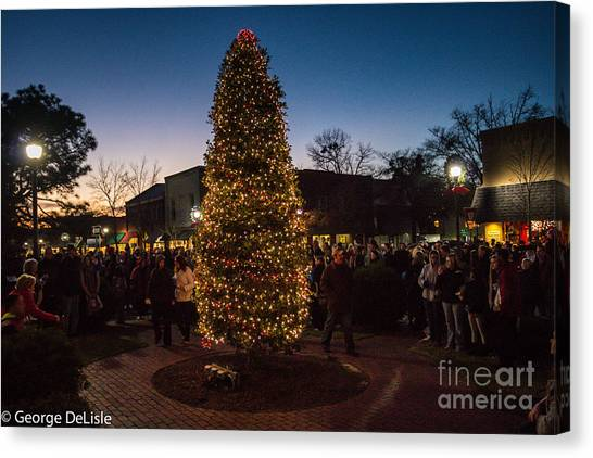 A Southern Pines Christmas 2 Canvas Print