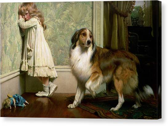 Doggy Canvas Print - A Special Pleader by Charles Burton Barber