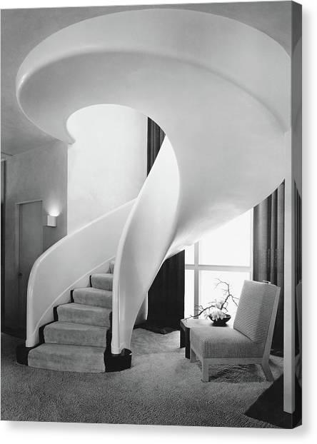 A Spiral Staircase Canvas Print