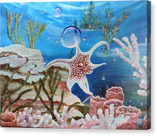 A Squid Named Sid Canvas Print