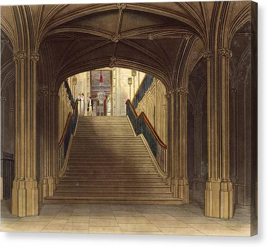 Vault Canvas Print - A Staircase, Windsor Castle, From Royal by Charles Wild