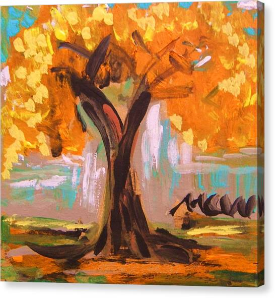 A Standout Tree Canvas Print by Mary Carol Williams