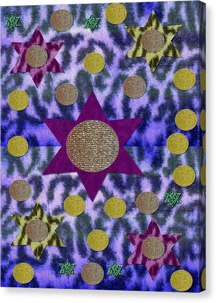 Storm Canvas Print - A Starry Night 2 by Pepita Selles