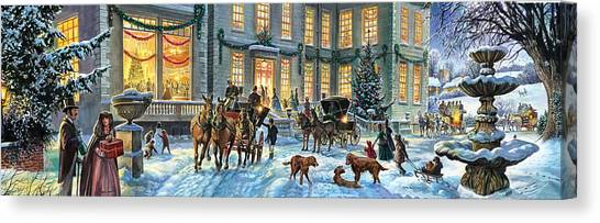 Carriage Canvas Print - A Stately Christmas by MGL Meiklejohn Graphics Licensing
