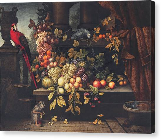 Watermelons Canvas Print - A Still Life With Fruit, Wine Cooler by David Emil Joseph de Noter