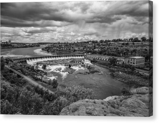 A Stormy Afternoon In Great Falls Montana Canvas Print