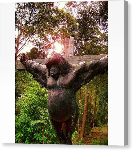 Gothic Art Canvas Print - A Strange Piece Called Paranormal In by Darren P
