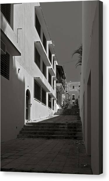 A Street With No Name  Canvas Print