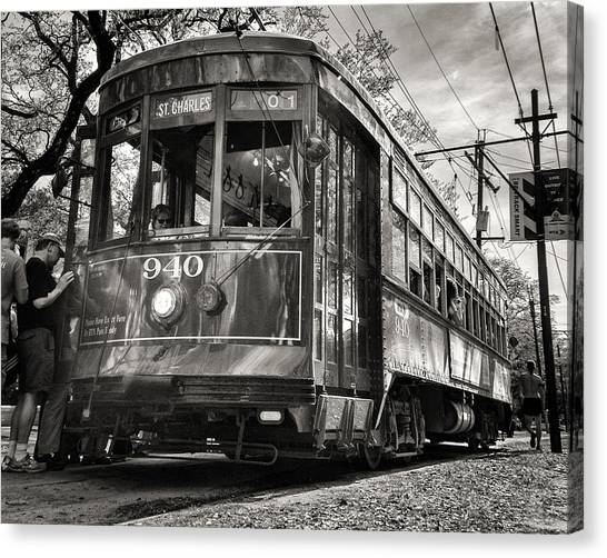 A Streetcar Named St Charles Canvas Print