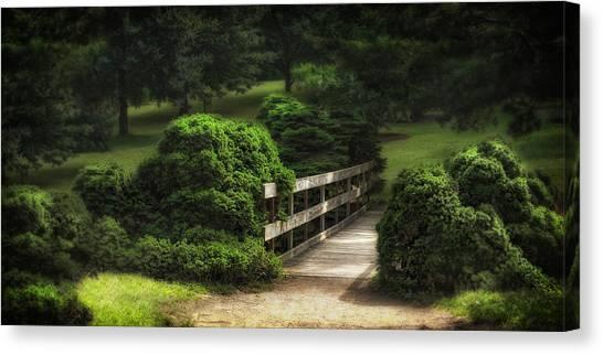 Lush Canvas Print - A Stroll Through The Park by Tom Mc Nemar