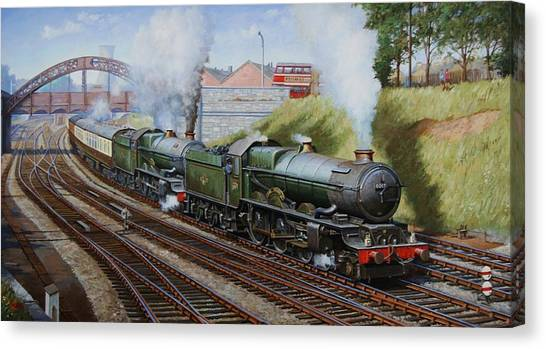 Trains Canvas Print - A Summer Saturday In The West. by Mike Jeffries