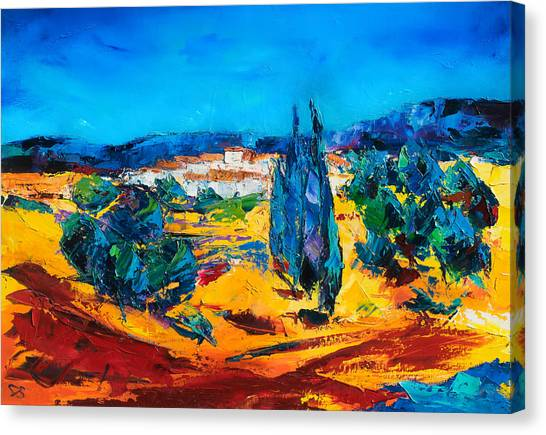 Fauvism Canvas Print - A Sunny Day In Provence by Elise Palmigiani