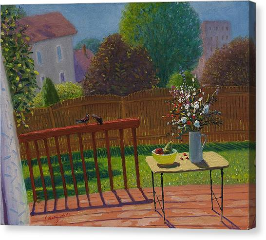 a sunny day in the backyard WangFineArt.com Canvas Print by Youqing Wang