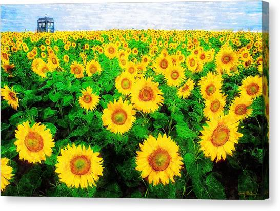 Tardis Canvas Print - A Sunny Day With Vincent by Sandy MacGowan