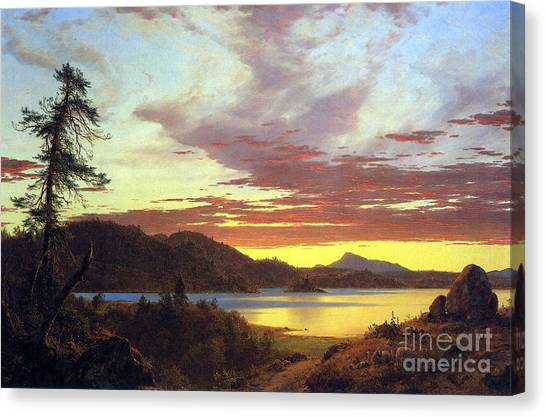 A Sunset By Frederick Edwin Church Canvas Print
