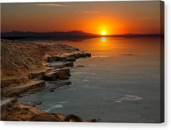 A Sunset Canvas Print