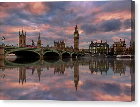 Uk Canvas Print - A Sunset To Remember .. by Ahmed Lashin