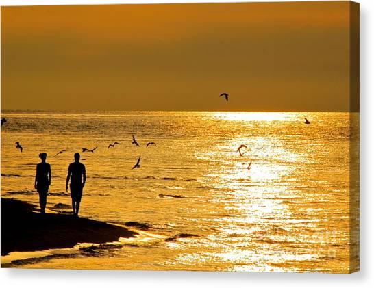 A Sunset Walk Canvas Print