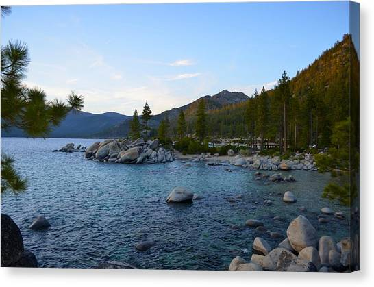 Just Before Sunset At Lake Tahoe Canvas Print