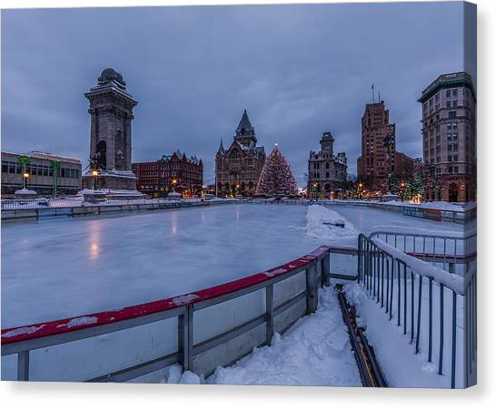 Syracuse University Canvas Print - A Syracuse Christmas 2014 by Everet Regal