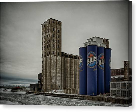 A Tall Blue Six-pack Canvas Print
