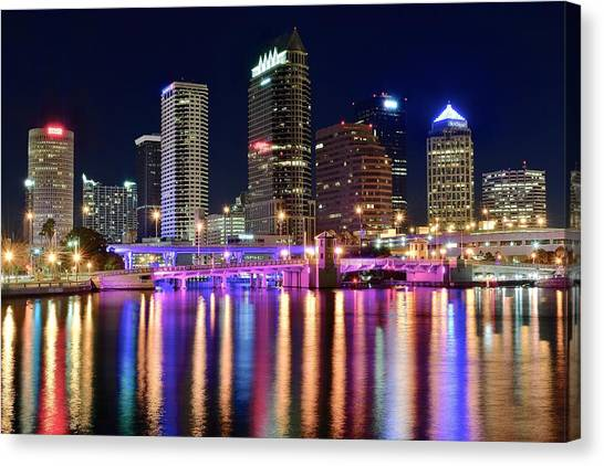 A Tampa Bay Night Canvas Print