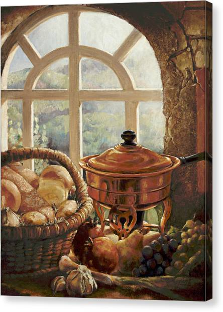 A Taste Of Provence Canvas Print by Gini Heywood