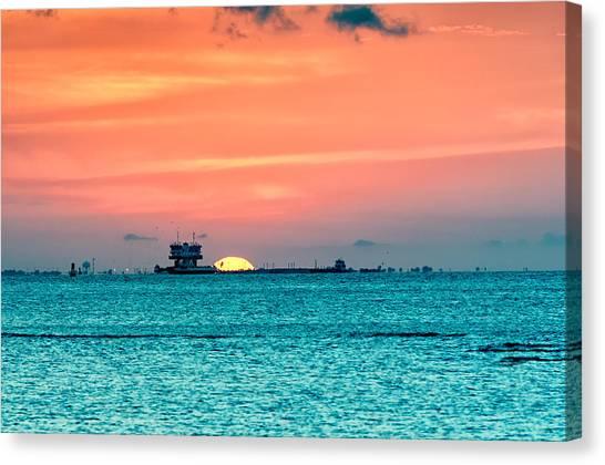 A Texas Sunset Canvas Print