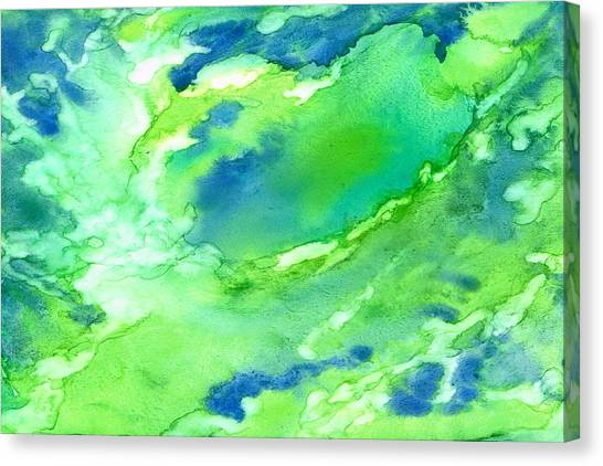 A Touch Of Blue Canvas Print by Rosie Brown