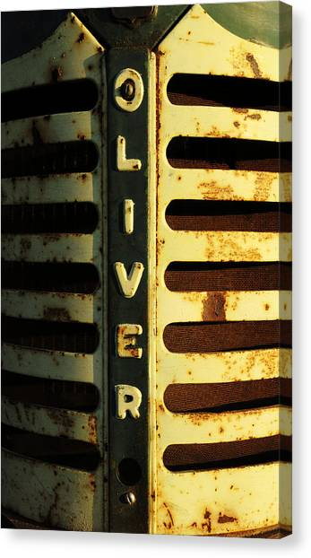 A Tractor Named Oliver Canvas Print