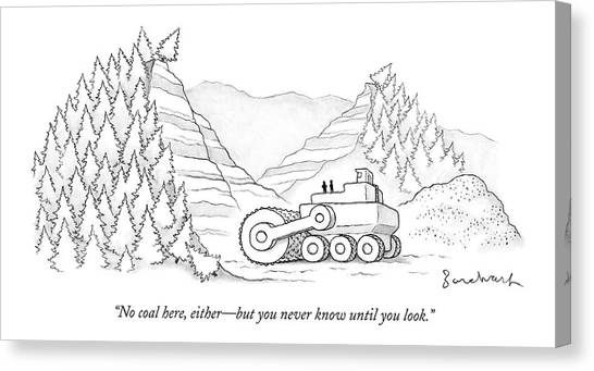 Deforestation Canvas Print - A Tractor Razes Thousands Of Trees by David Borchart