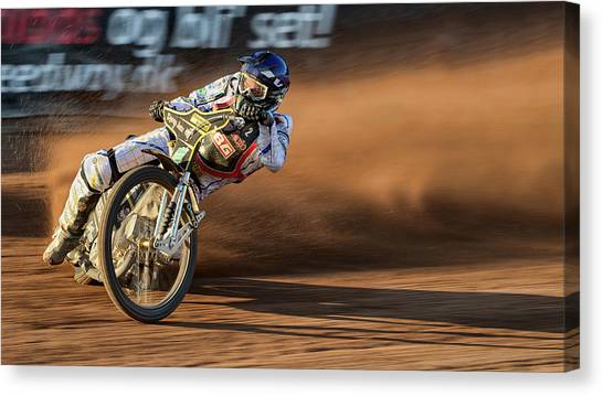 Mud Canvas Print - A Trail Of Dust At Sunset by Kemal Selimovic