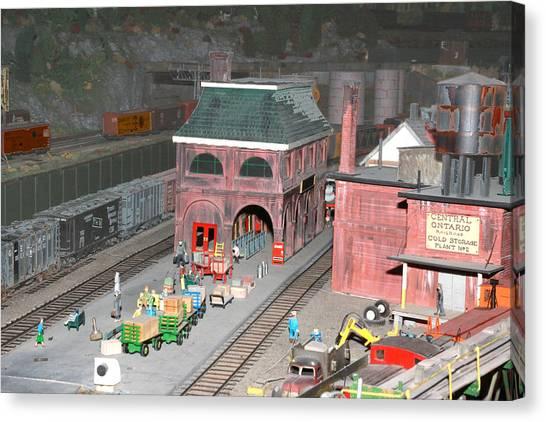 A Train Station Canvas Print by Hugh McClean
