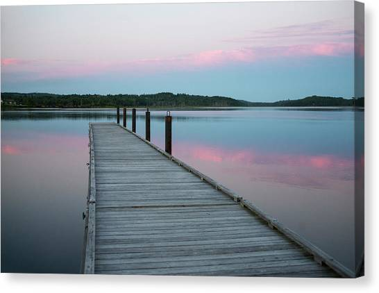 Canvas Print - A Tranquil Evening On The Dock by Robbie George