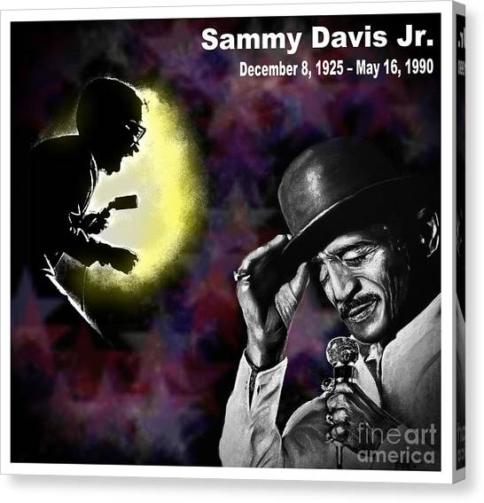 Tap Dance Canvas Print - A Tribute To Sammy David Jr by Jim Fitzpatrick