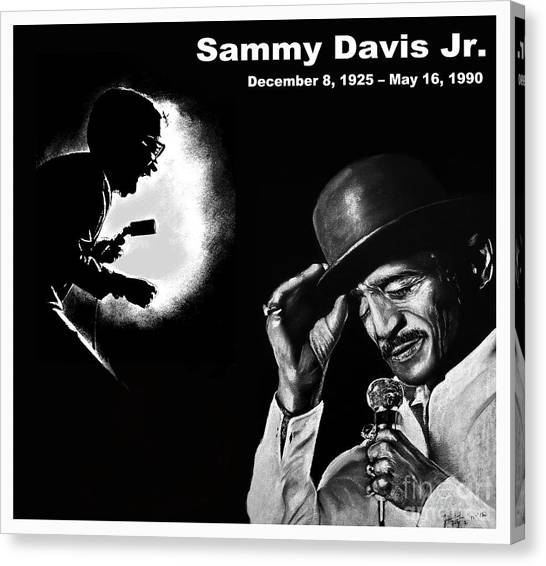 Tap Dance Canvas Print - A Tribute To Sammy Davis Jr by Jim Fitzpatrick
