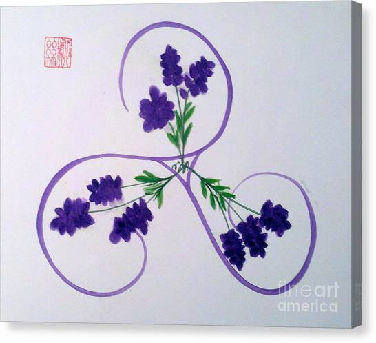 A Triskele Of Lavender Canvas Print