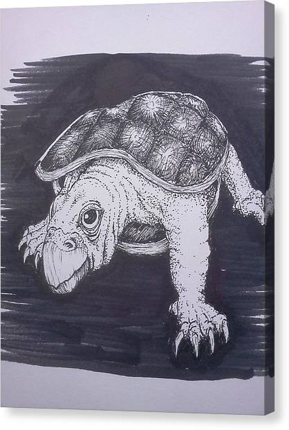 A Turtle Named Puppy Canvas Print