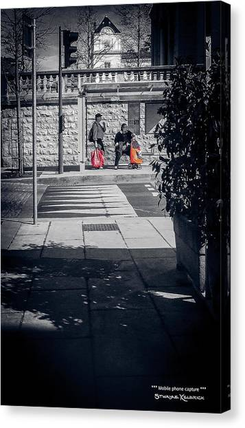 Canvas Print featuring the photograph A Very Long Waiting Day by Stwayne Keubrick