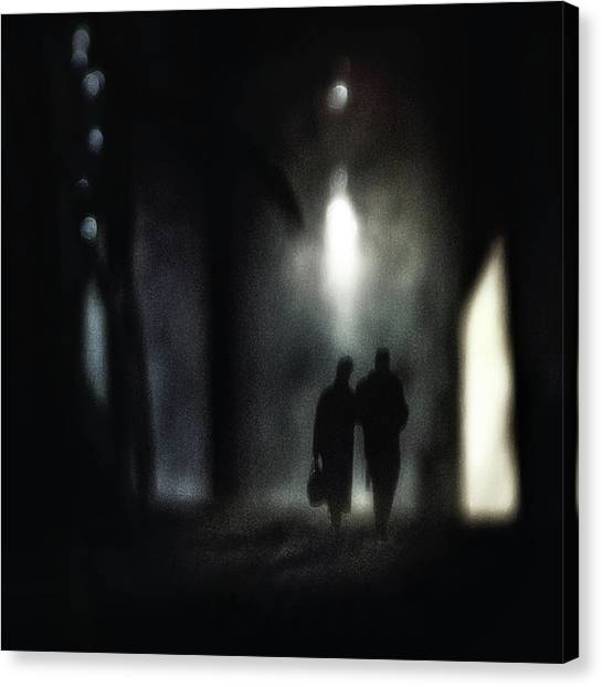 Marriage Canvas Print - A Very Long Walk Together by Piet Flour
