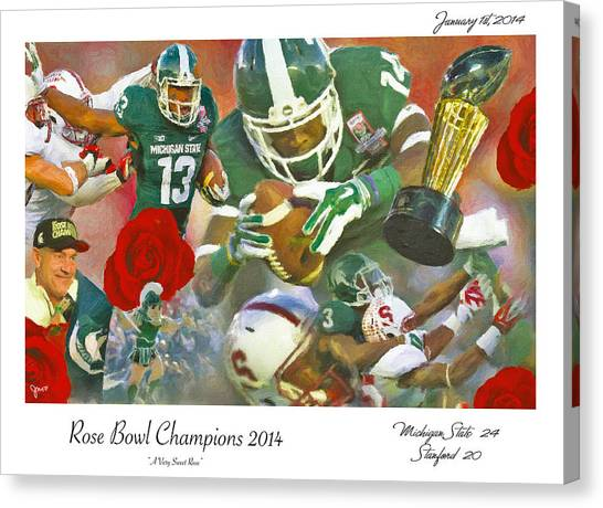 Michigan State University Canvas Print - A Very Sweet Rose by John Farr