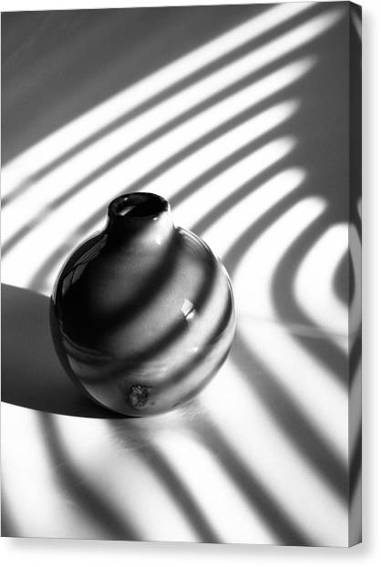 A Vessel...black And White Canvas Print by Tom Druin