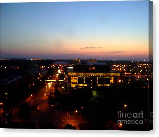 Illinois State University Canvas Print - A View From Above by Sarah J Wood
