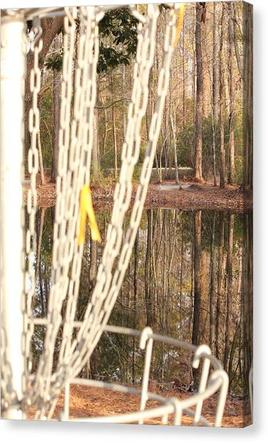Disc Golf Canvas Print - A View From The Chains by Jennifer Westlake