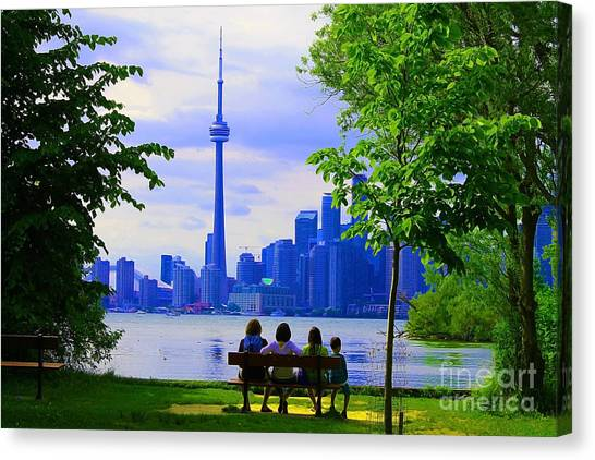 Toronto Fc Canvas Print - A View From The Island by Nina Silver